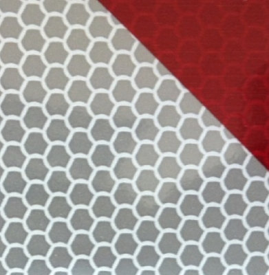 CHEVRONS BACS55 - Reflective white/red striping