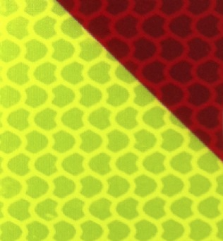 CHEVRONS CHEVS77 - Fluorescent yellow/red reflective striping