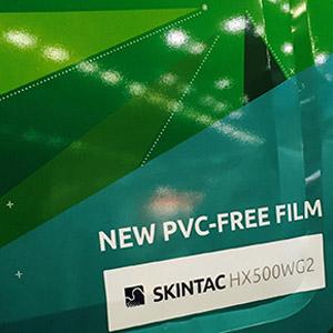 HX500WG2 - Film sans PVC imprimable avec adhésif structuré