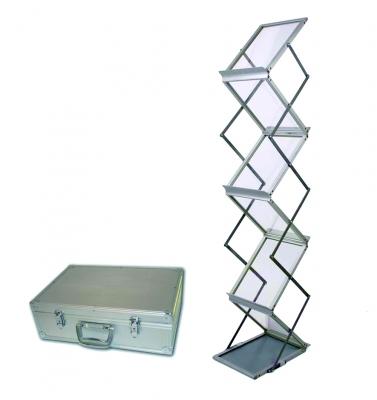 Zigzag - Porte brochures en aluminium pliable