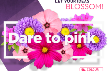 Dare to pink. Let your ideas blossom!