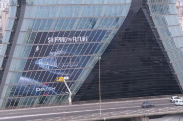 Communication grand format sur façade vitrée !