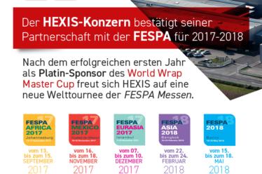 Fortbestand der Partnerschaft mit FESPA für das Jahr 2017/2018